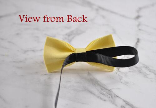 Boy Kids Baby Cotton Baby POPCORN Yellow Bow Tie Bowtie Wedding 1-6 Years Old