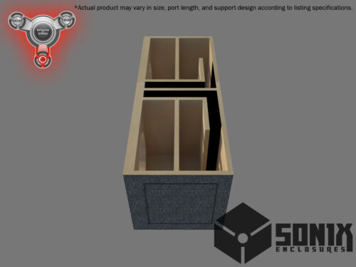 DUAL PORTED SUBWOOFER MDF ENCLOSURE FOR JL AUDIO 12W7AE SUB BOX STAGE 2