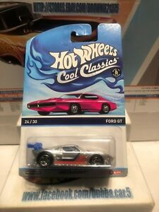 Ford-GT-Silver-Hot-Wheels-Cool-Classics-Pink-Otto-Card-E15