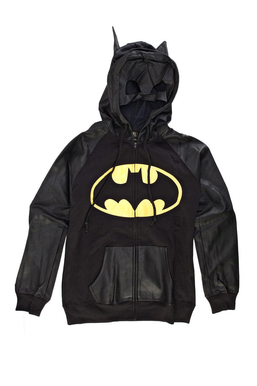 DC DC DC Comics Batman Half Mask Juniors Zip-Up Hoodie Sweatshirt 5b2a6c