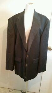 c3ba1d1fb30 Oscar de la renta menswear sz 46R 100% wool black brown pin stripes ...