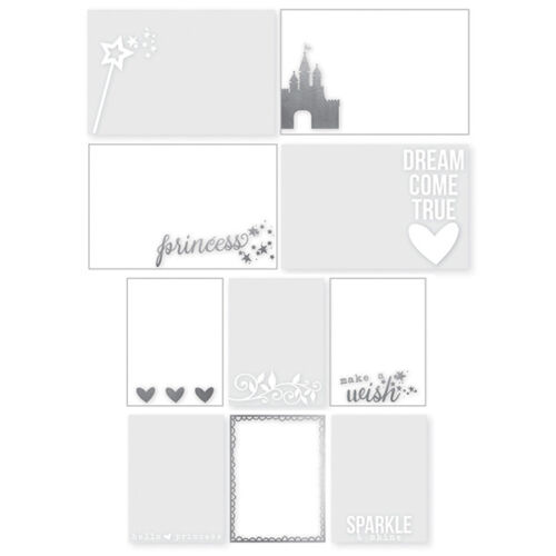 Simple Stories Enchanted Collection Photo Overlays with Foil Accents 4434