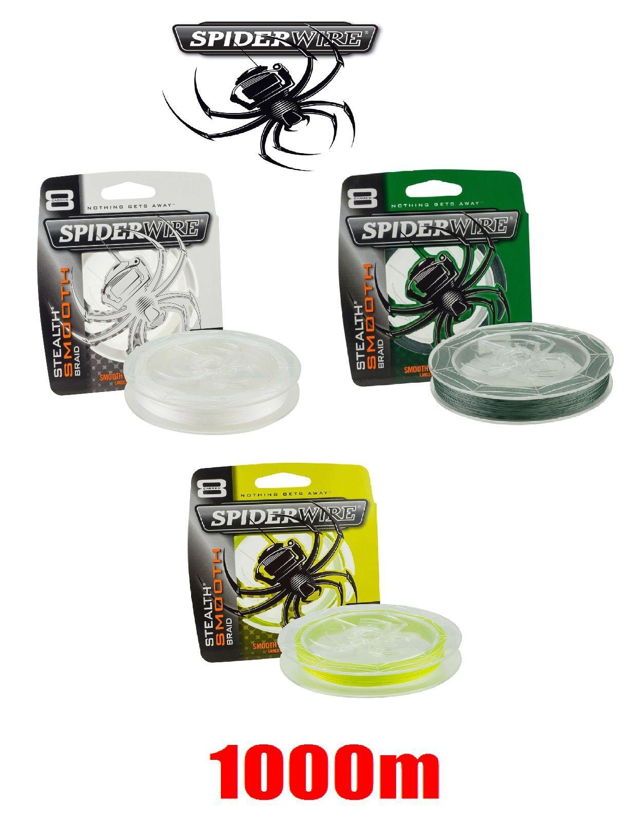 Spiderwire Stealth 8 Smooth Grün    Weiß   Gelb 1000m geflochtene Schnur