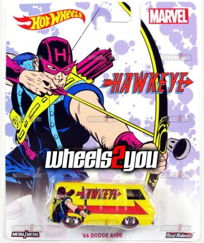 66 Dodge A100 Hawkeye-Marvel - 2016 Hot Wheels Cultura pop Real Riders