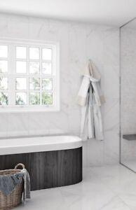 sublime white marble effect gloss glaze ceramic wall tile