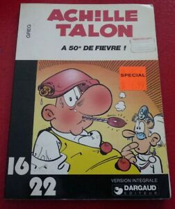 Soft-Cover-French-Book-Achille-Talon-a-50-de-Fievre-Dargaud-16-22-No-21