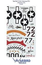 Warbird P-51B/C  Mustang, Tuskegee, Red Tail Aircraft Decals 1/32 01, 3 Options