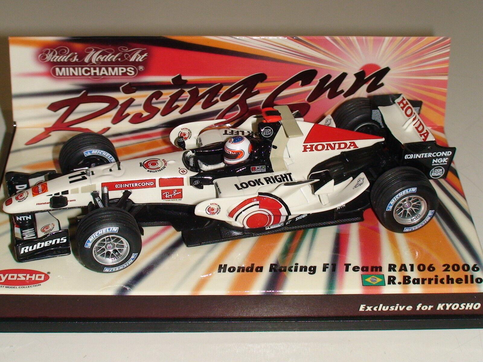 1 43 R. Barrichello  HONDA RA106  Kyosho sponsor Ed. MINICHAMPS  403 060211