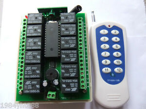 12v-10A-relay-12Ch-wireless-Programable-RF-Remote-Control-Transmitter-Receiver