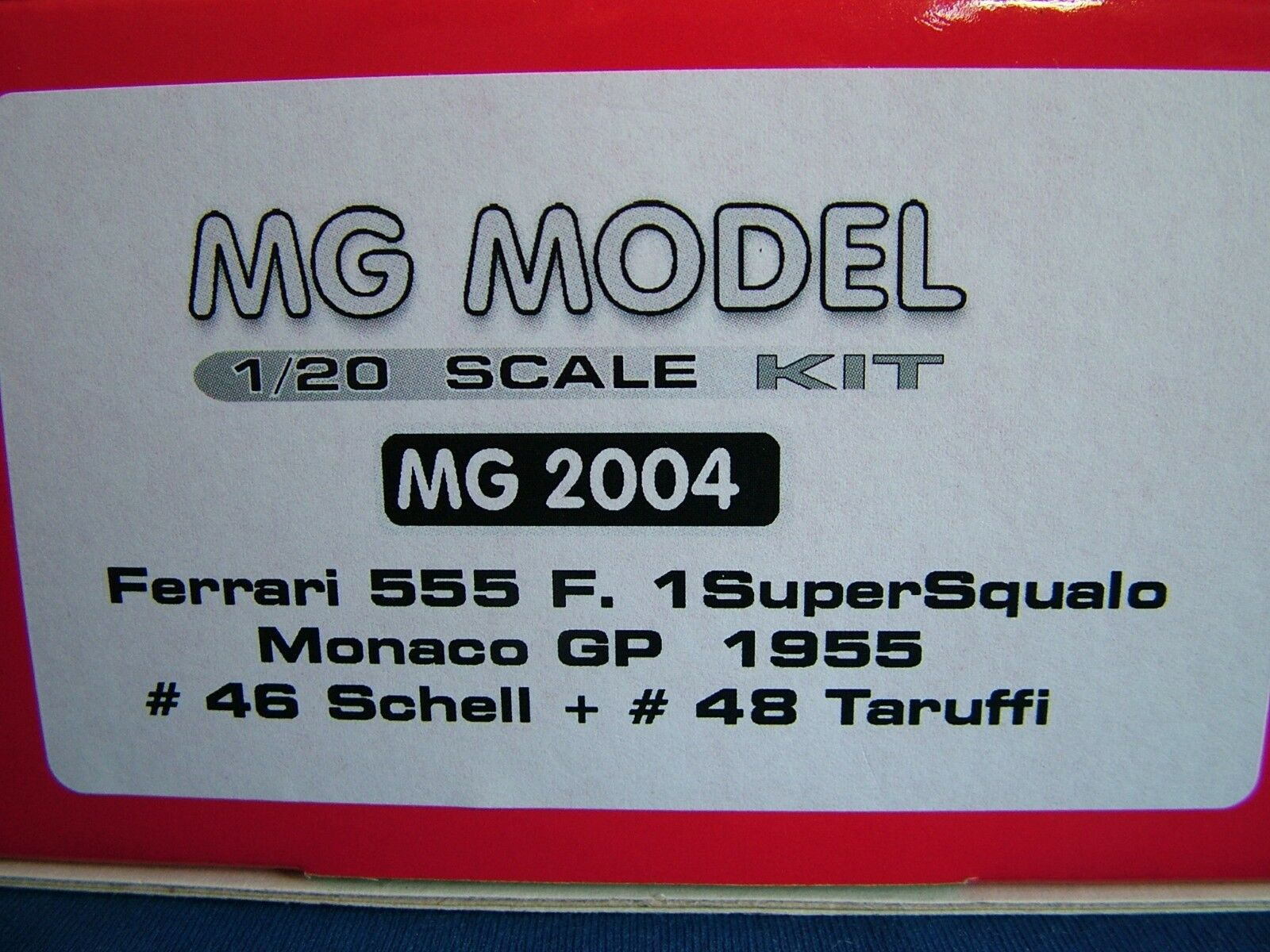 MG MODEL PLUS 20.04 - 1955 FERRARI 555 F1 - 1 20TH SCALE RESIN & METAL KIT