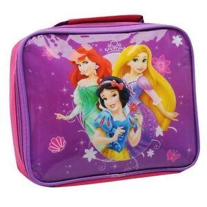 DISNEY-Sac-a-gouter-rose-amp-violet-lunch-bag-PRINCESSES-Ariel-Raiponce-Neuf