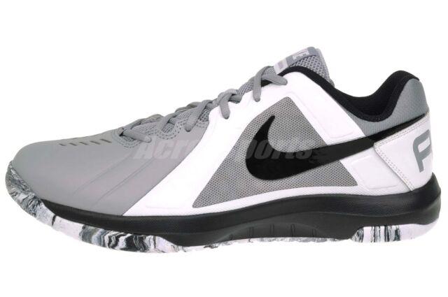 1663c959dbf8 Nike Air Mavin Low Basketball Shoes Wolf Grey Black White 719924 Sz ...