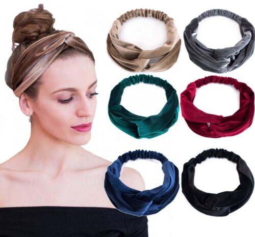 Haarband SAMT Stirnband Bandana Kopfband Haarreif Knoten Turban EDEL 6 Farben!