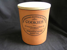 Henry Watson Pottery COOKIE CANISTER, Original Suffolk, Made in England