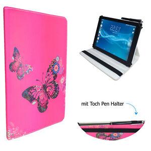 Tablet-Schutzhuelle-fuer-ARCHOS-101e-Neon-Etui-10-1-034-Schmetterling-Pink-360