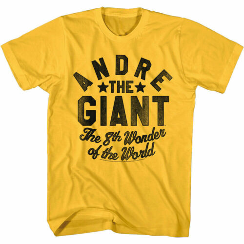 Andre the Giant 8th Wonder of the World t shirt Funny Cotton Tee Gift Men