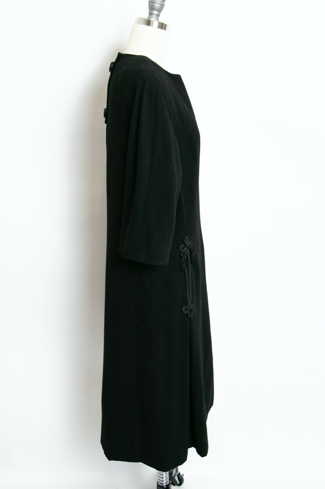 HARVEY BERIN 1960s Dress Black Wool Large - image 3