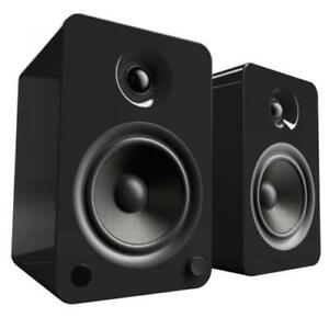 Kanto Yu6 Powered Bookshelf Speakers Gloss Black