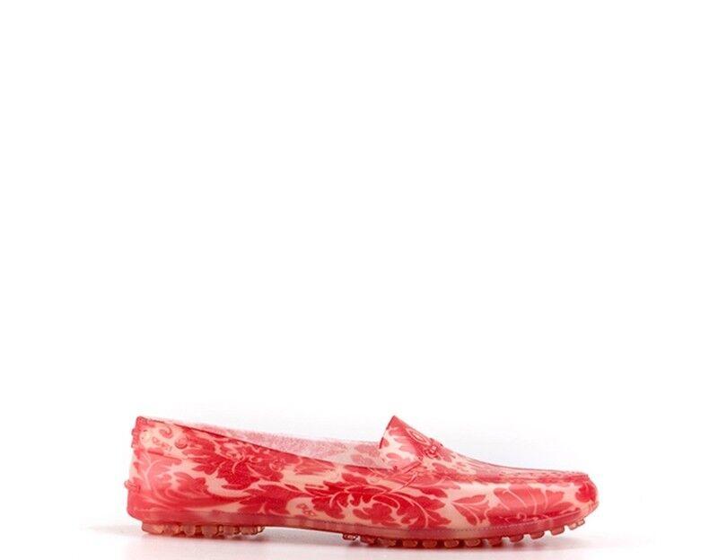 shoes ISHU women Mocassini  red Gomma LOAF-GIG4