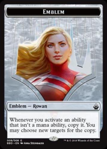 1x Emblem Rowan NM-Mint English Battlebond MTG Magic