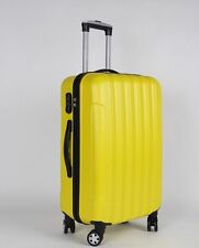 GLOBAL 3 Pcs Luggage Travel Set Bag ABS Trolley Suitcase with TSA Lock Yellow