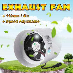 110mm 4in Exhaust Fan Wall Window Kitchen Toilet Bathroom ...