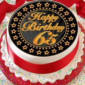 Wondrous Precut 7 5 Inch Cake Topper Edible Premium Rice Paper Age 65 65Th Funny Birthday Cards Online Elaedamsfinfo