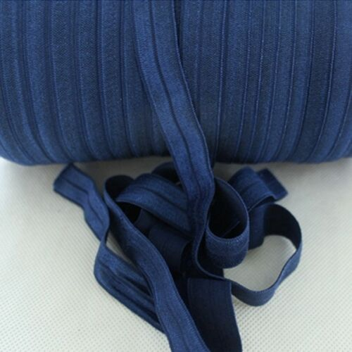 "Fold Over Elastic 15mm 5//8/"" Quality Soft Shiny Headband Tutu FOE 3 5 10 metres"