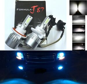 LED Kit C6 72W 9008 H13 10000K Blue Two Bulbs Head Light Dual High Low Beam Lamp