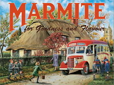 Marmite, Cottage Classic Bedford Coach Advertising Medium Metal/Tin Sign Picture