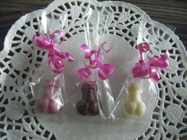 20 Mini Chocolate Willies Willy Hen Party Mixed Chocolate Favours Cupcake Topper
