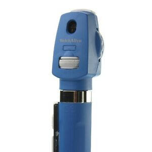 2-5V-LED-Direct-Ophthalmoscope-BLUE-Welch-Allyn-AA-Handle-12870-Pocketscope