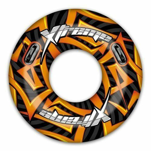 Groß 119cm Aufblasbar Turbo Extrem Reifen Schwimm Ring Gummi Schlauch Lilo Pool