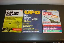 LOT OF 3 VINTAGE UFO FLYING SAUCERS MAGAZINES 1967 1975 1976