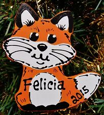 U CHOOSE NAME & YEAR Personalized FOX Christmas ORNAMENT Holiday Decor