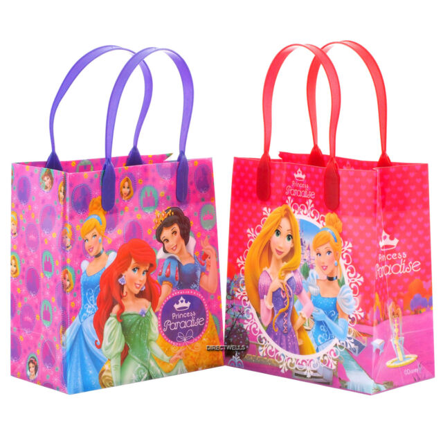 6 Pcs Disney Princess Authentic Licensed Small Party Favor Goo Gift Bags