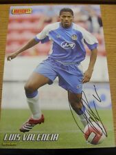 90-2000's Autographed Magazine Picture A4: Wigan Athletic - Valencia, Luis. We t