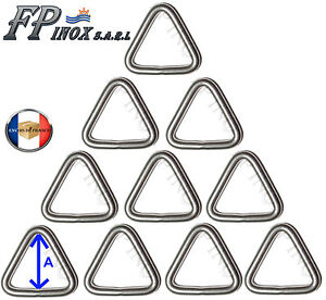 Anneau-Triangulaire-4-mm-x-20-mm-Lot-de-10-inox-316-Triangle