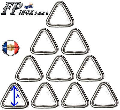 inox A4-316 Triangle Lot de 2 Anneau Triangulaire Barrette 8mm