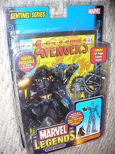 Figurine d'action de 6 po Marvel Legends, série Sentinel, Black Panther, datée de 2005 86892711514   Action Figure, Sentinel Series, Black Panther , Dated 2005 86892711514