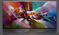 Hand-painted Modern Wall Deco Art Abstract Huge Oil Painting On Canvas No frame