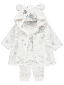 Baby Boys Tatty Teddy Dressing Dressing Gown And Pyjamas 3 Piece Set