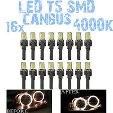 N° 16 Gloeilampen LED T5 Wit 4000K SMD 5630 Koplampen Angel Eyes DEPO FK 12v 1C5