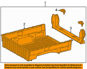 s l300 toyota oem 05 15 tacoma pick up box bed inner box assembly