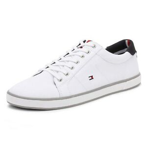 899b757c2e50f Image is loading Tommy-Hilfiger-Mens-Trainers-White-Harlow-1D-Textile-
