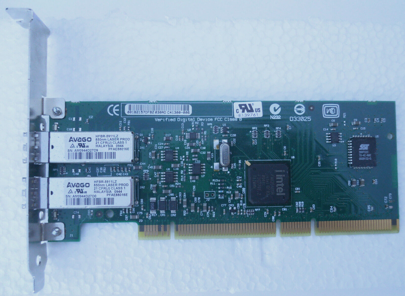 (10) Intel Pro/1000 MF LC Dual Port Network Cards (TEN for ONE BID of )