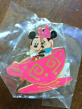 DLR Cast Exclusive April Pin of the Month Mickey & Minnie in a Tea Cup SEALED