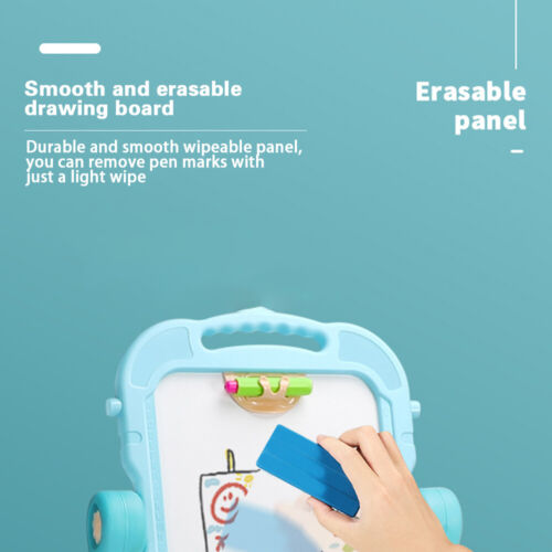 Children Magnetic Drawing Board Easel Double Sided Folding Kids Doodle Sketchpad