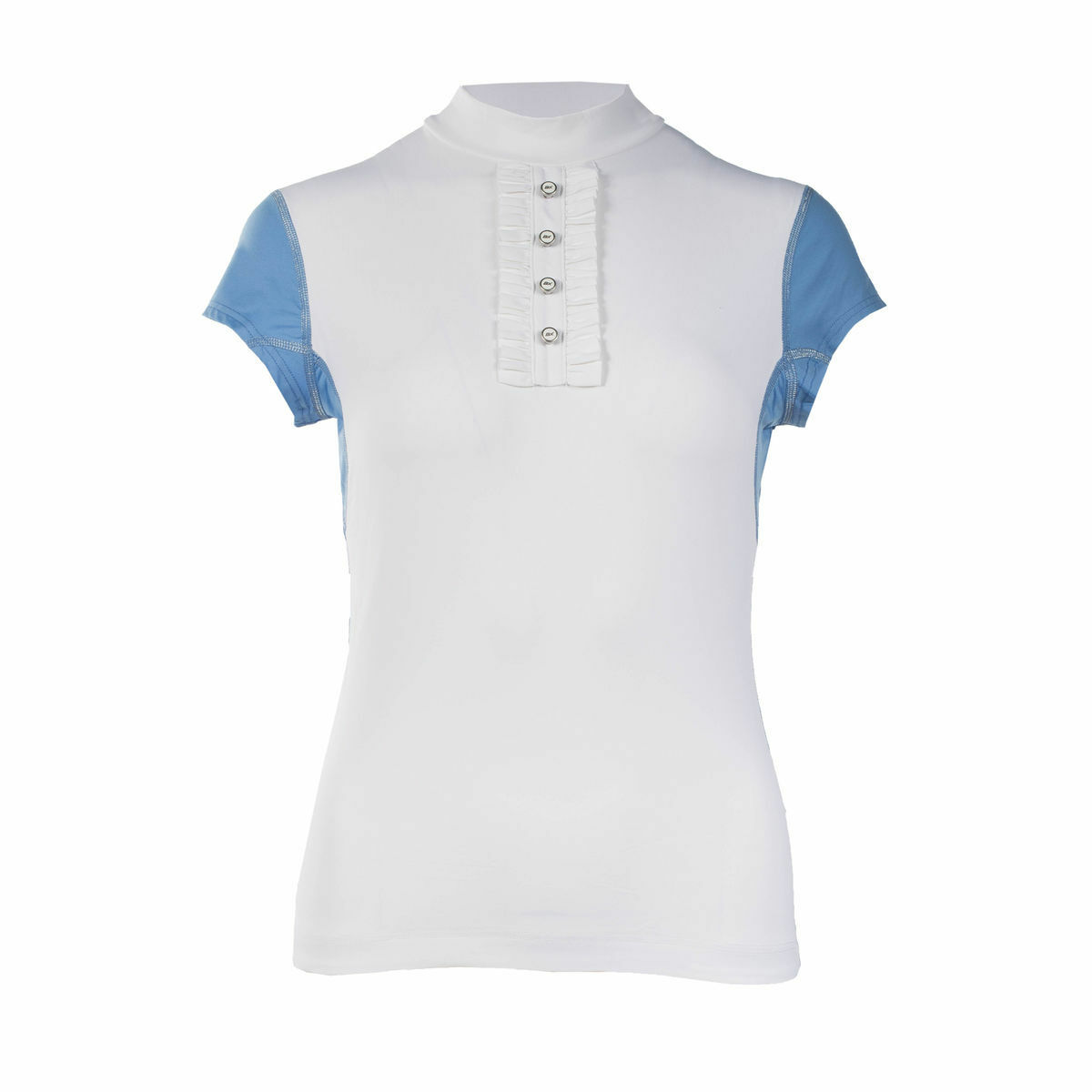 Ladies Womens Horze WHITE  English Hunt Seat Charlize BVX Short Sleeve Show Shirt  free delivery and returns