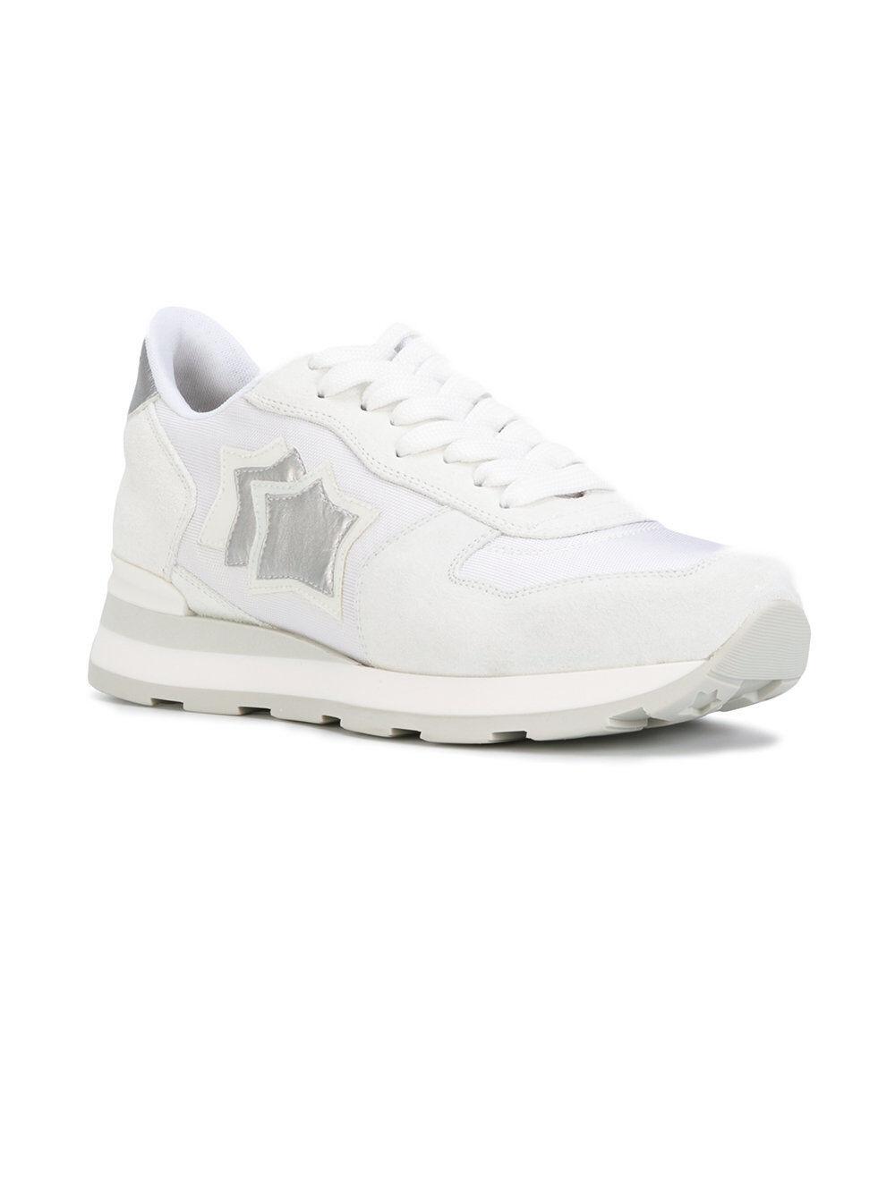 Zapatos casuales salvajes Barato y cómodo Zapatos ATLANTIC STARS MUJER Vega BA 86B Blanco Plata blanco Stella Nuevo